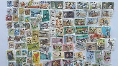 100 Different Uganda Stamp Collection