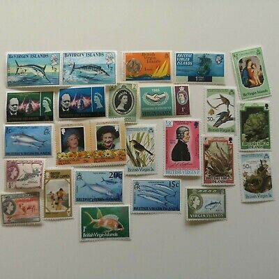 50 Different Virgin Islands (British) Stamp Collection