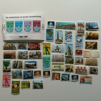 100 Different Zimbabwe Stamp Collection