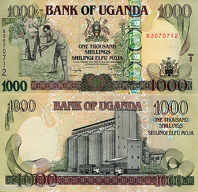 UGANDA 1000 Shillings Bill Banknote World Money p43c Note Currency 2009 Africa
