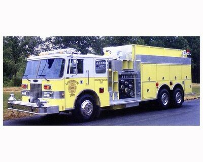1989 Pierce Tanker Fire Truck Photo Poster zca2874