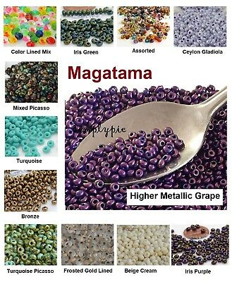 Magatama Toho Glass Seed Beads 3mm 10-Grams Ur PICK New Color New Arrivals