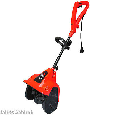 HomCom 9 Amp. Electric Handheld Snow Blower Shovel Snow Thrower Machine Red