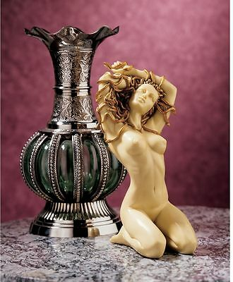 Nude Temptress Medusa Statue Greek Mythology Gorgon Sculpture Home Decor