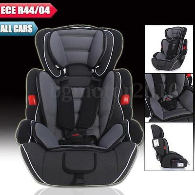 Black Grey Forward Facing Baby Children Car Seat Booster For 9-36kg US STOCK