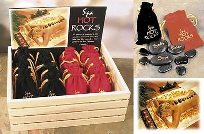 Romantic Spa Hot Rocks Gift Pack Stone Therapy Relaxing Scented Massage Kit Gift