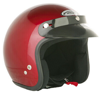 Spada Open Face Candy Red Motorcycle Helmet New