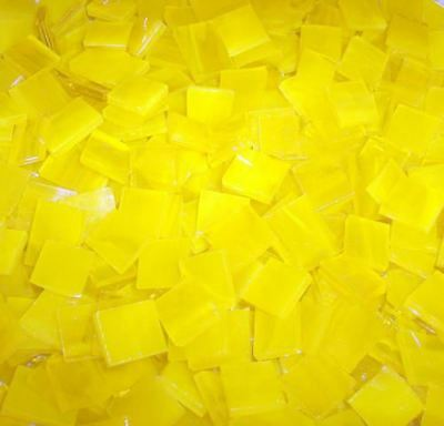 "100 1/2"" Bright Yellow Stained Glass Mosaic Tiles"