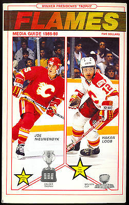 1988-89 Calgary Flames Yearbook Media Guide With Joe Nieuwendyk Theoren Fleury