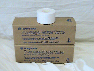10 Rolls Pitney Bowes Postage Meter Tape 611-0 Tr290