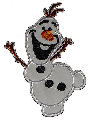 Olaf Snowman Frozen Film Disney Embroidered Iron Sew On Patch Badge Applique