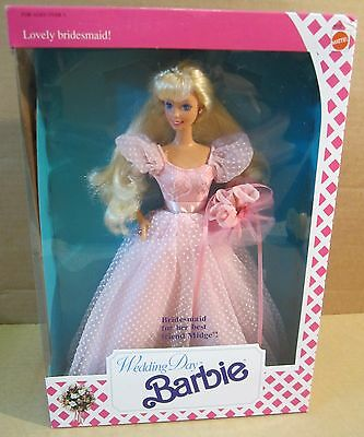 Lovely Bridesmaid Barbie Doll Wedding Day For Her Best Friend Midge Blond NEW A1