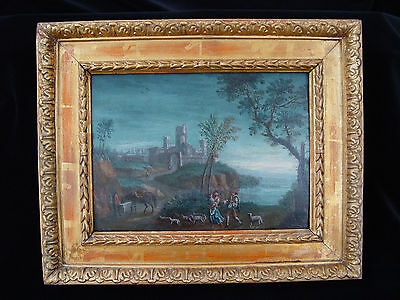 ANTIQUE Oil Painting 18th CENTURY *Landscape* RARE