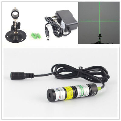532nm 10mW Green Laser Cross Module Locator for Cutting Machine +adapter +mount