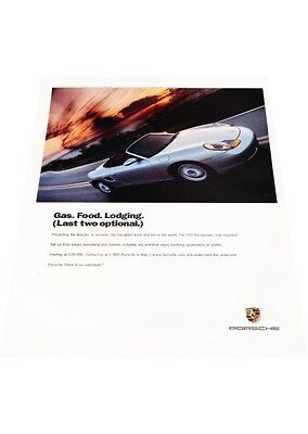 1997 Porsche Boxster - Lodging - Vintage Advertisement Car Print Ad J406