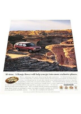 1997 Range Rover - canyon mountains  - Vintage Advertisement Car Print Ad J406
