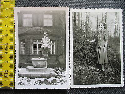 Orig Privat Foto Sammlung ! Krankenschwester Annelies in Uniform & in Zivil 1951