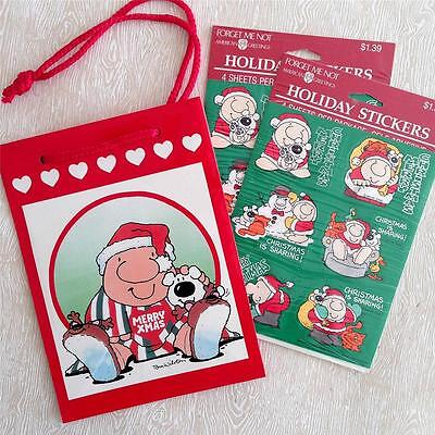 Vintage Ziggy Christmas Stickers + Holiday Gift Bag (1993)