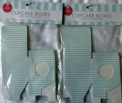 12 Single Contemporary Design Cupcake Boxes - New - Cup Cake