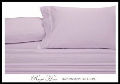 Royal's Solid Lilac 4pc King Waterbed Sheets 100% Luxury Brushed Microfiber