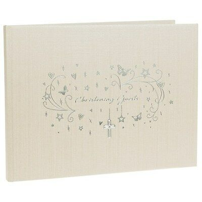 Star Cluster Christening Guest Book With Gift Box