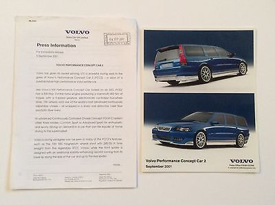 Volvo Performance Concept Car 2 Press Release. Collectable Item Pr0157
