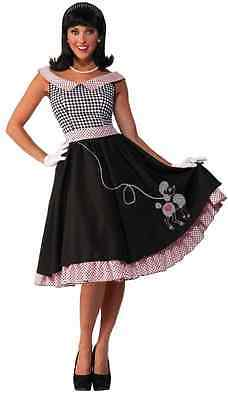 16db60f1a2dd Checkered Cutie 50's Poodle Skirt Sock Hop Fancy Dress Halloween Adult  Costume