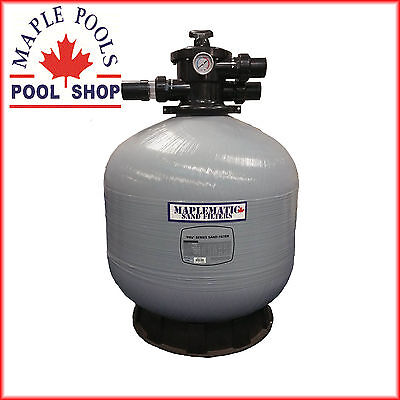 New Maplematic 28Inch Fibreglass Sand Filter With 40Mm Valve