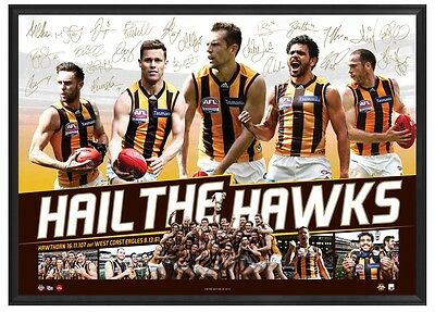 Hawthorn Hawks 2015 AFL Premiers Deluxe Sports Lithograph Unframed - BEST PRICE