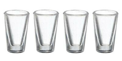 Dolls House Miniature Pub Kitchen Dining Room Accessory 4 Water Tumbler Glasses