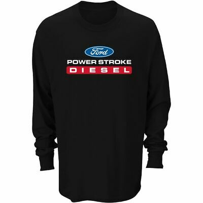 Ford Power Stroke Diesel Mens Black Long Sleeve Tee Shirt