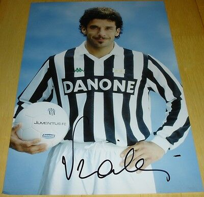 Gianluca Vialli Juventus Personally Signed Autograph 12X8 Photo Soccer