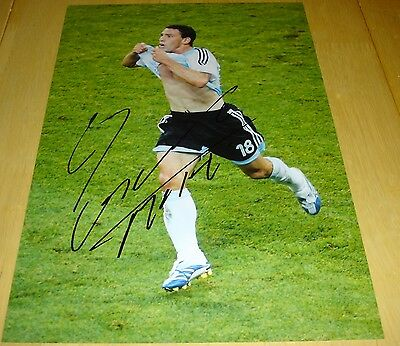Maxi Rodriguez Argentina Personally Signed Autograph 12X8 Photo Soccer
