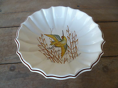 Este Ceramiche Italy Wildlife Hand Painted Artist Signed   Large Serving Bowl