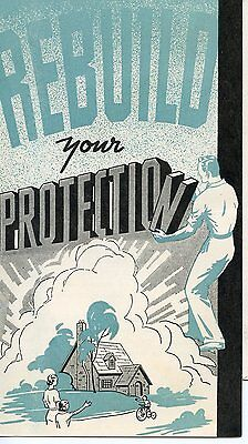 Old REBUILD YOUR PROTECTION pamphlet MUTUAL LIFE INSURANCE