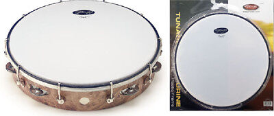 "12"" stimmbares Kunststoff Tambourin, Farbe Holzfarben, TAB-112P/WD"