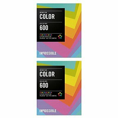 Impossible PRD2959 Color Film for Polaroid 600-Type Camera Frame Two Pack