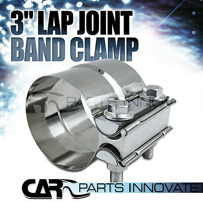 """3"""" Stainless Steel Turbo Exhaust Downpipe Muffler Racing Band Clamp"""