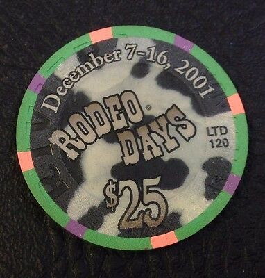 Riviera $25 Casino Chip Las Vegas Nv House Mold 2001 Rodeo Days Free Shipping