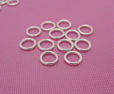 Wholesale 50 Pcs Silver Plated Strong Open Jump Rings 8mm*1.2mm