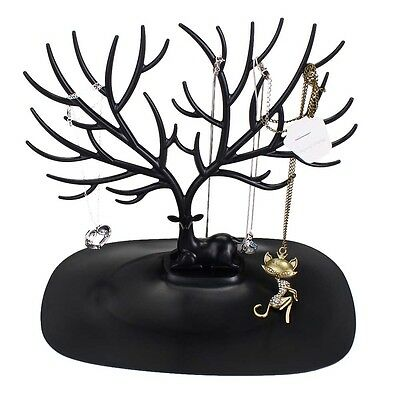 Jewelry Necklace Ring Earring Tree Stand Display Organizer Holder Show Rack A TL