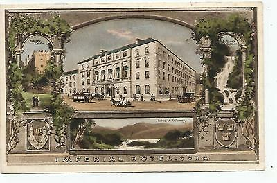 irish postcard ireland cork imperial hotel posted 1923