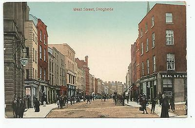 irish postcard ireland louth drogheda west street cavanagh s bakery on right
