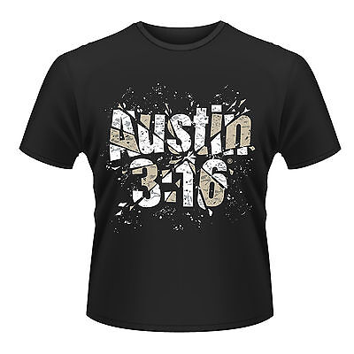 WWE STONE COLD STEVE AUSTIN Shattered Glass 3:16 T-SHIRT OFFICIAL MERCHANDISE