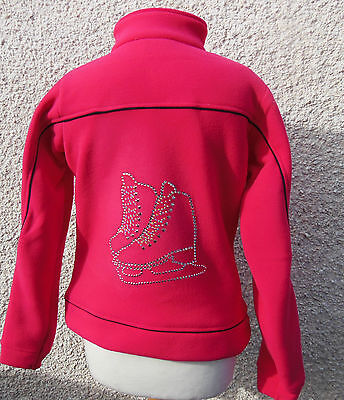 NEW Glitzy Quality Ice Skating Fleece Dress Jacket - 15-16 Years - BLACK OR PINK