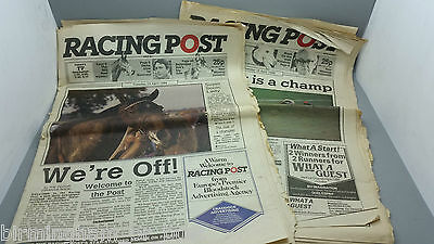 Very Rare Racing Post Issues No. 1 & 2 dated 15/04/86 & 16/04/86 Sonic Lady