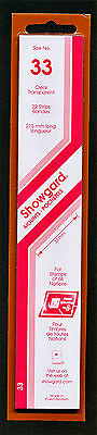 Showgard Stamp Mounts Size 33/215 CLEAR Background Pack of 22