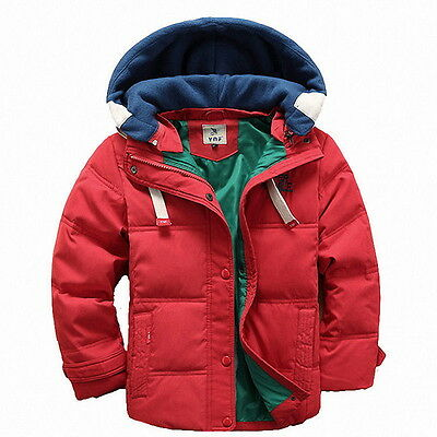 Children Down Jacket for Winter Clothes Christmas Removable Hooded Kids Coats