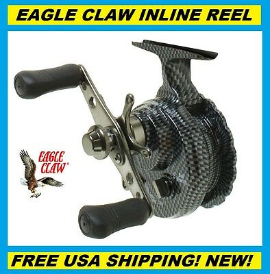 EAGLE CLAW Inline Ice Reel #ECILIR FREE USA SHIPPING! NEW! Crappie, Bass Reel!