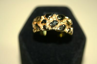 USA Made Wholesale lots of 12 Boxed Mens & Lds 18K HGE Nugget Style Ring Shipped